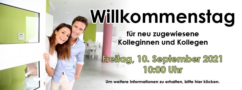 Willkommenstag am Freitag, den 10.09.2021